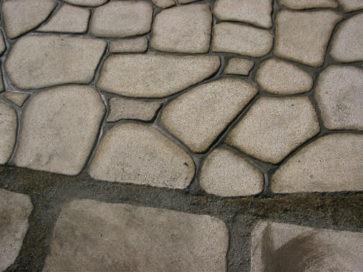 石貼り工事 飯谷川公園
