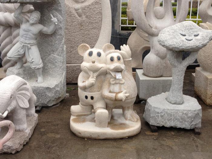 彫刻工場 その3 ネズミとアヒル